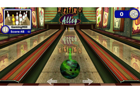 Gutterball Golden Pin Bowling review skittles bowling game ...