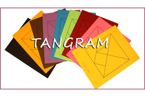 Printable Tangram Puzzles with solutions - YouTube