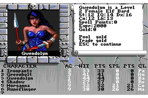 Bard's Tale III: Thief of Fate (DOS, Amiga) Game Download