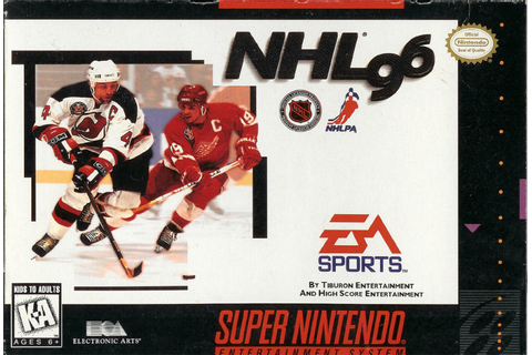 NHL 96 Super Nintendo Game