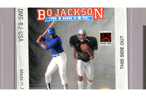 CGR Undertow - BO JACKSON: TWO GAMES IN ONE review for ...
