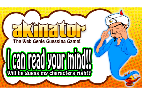 Let's Play Akinator 아키네이터 - The Web Genie Guessing Game ...