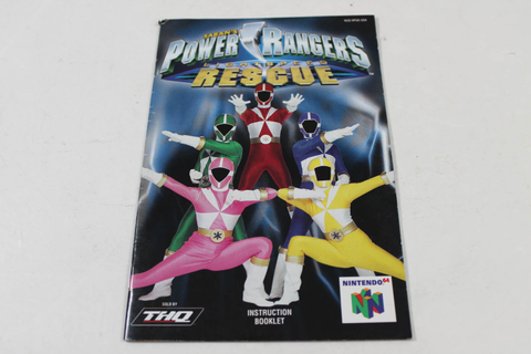 Manual - Power Rangers Lightspeed Rescue - Nintendo N64
