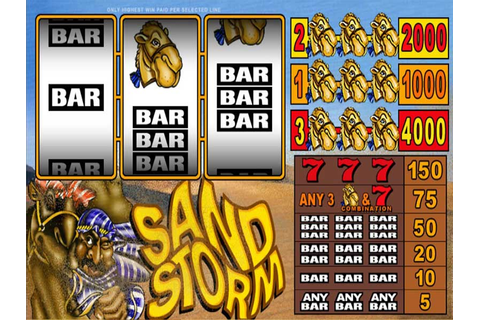 Play Slot Sand Storm by Microgaming