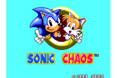 Master System Longplay [045] Sonic the Hedgehog Chaos ...