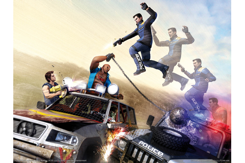 Car Jumping - Pursuit Force Wallpaper