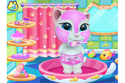 Play Talking Angela at Spa Session game online - Y8.COM