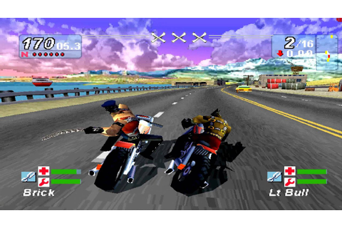 Road Rash Jailbreak PS1 (4k) - YouTube