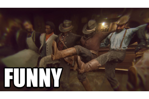 RED DEAD REDEMPTION 2 - Lenny Drinking Scene / Funny Drunk ...