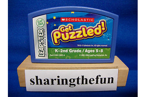 Leapster SCHOLASTIC GET PUZZLED! Game Cartridge Leap Frog ...