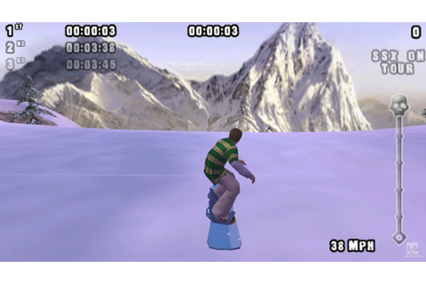 SSX on Tour PSP Gameplay HD - YouTube