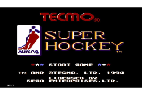 Tecmo Super Hockey | SEGA GENESIS | HD | FUSION EMULATOR ...