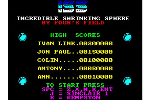 Download Incredible Shrinking Sphere - My Abandonware