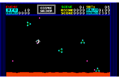 Cosmic Soldier (1983) NEC PC8801 game