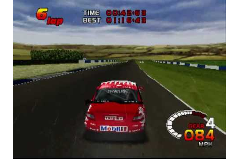 TOCA 2 Touring Cars PS1 | Donington Park | Vauxhall Vectra ...