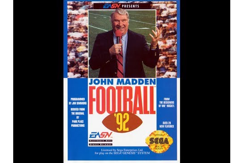 John Madden Football '92 (Sega Genesis) - Game Play - YouTube