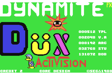 Dynamite Dux (1989) by Core Design C64 game