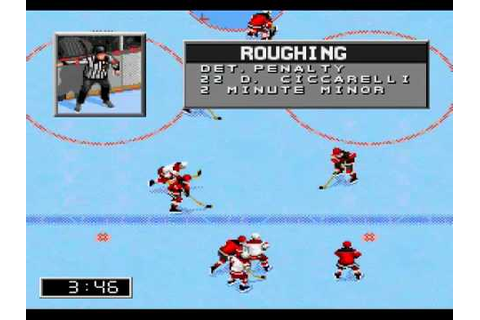 NHL 96 (Sega Genesis) Demo Gameplay (3rd Period) - YouTube