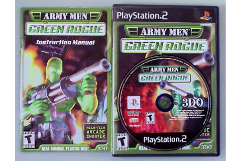 ARMY MEN GREEN ROGUE PS2 PLAYSTATION 2 COMPLETE ...