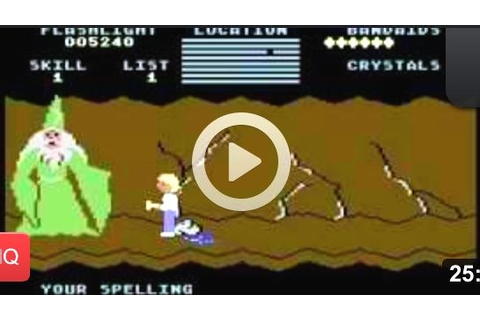 Cave of the Word Wizard. Commodore 64 game. Youtube. http ...