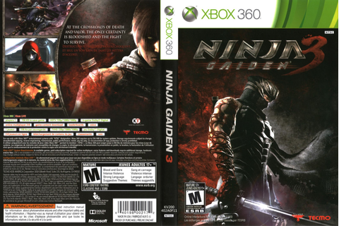Games Covers: Cover Ninja Gaiden 3 - Xbox 360