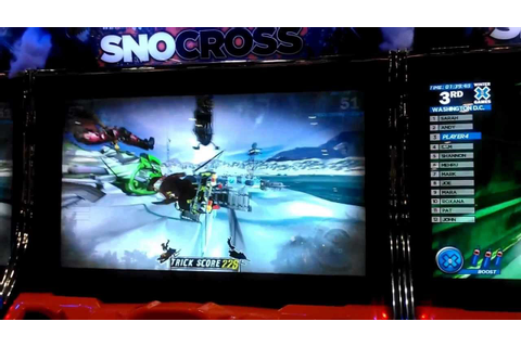 Winter X Games Snocross Arcade by Raw Thrills at IAAPA ...