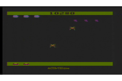 Game Play Spider Fighter on the Atari 2600 - YouTube