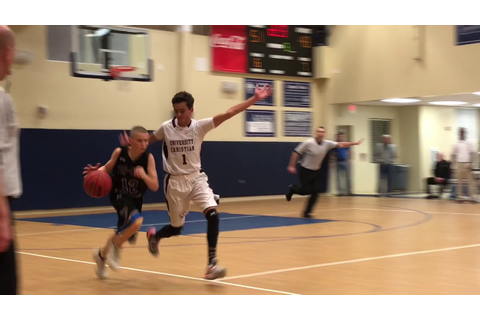 Eli Ellis goes for 22 in his First High School Game - YouTube