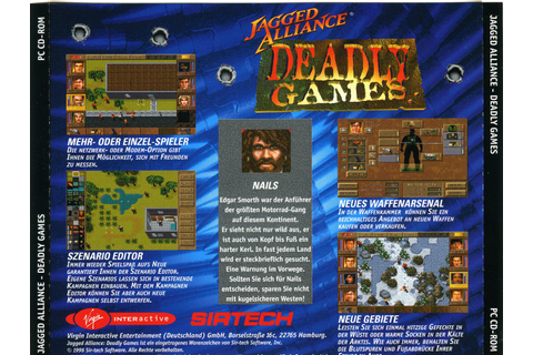 Box shot Jagged Alliance - Deadly Games () | Abandonia