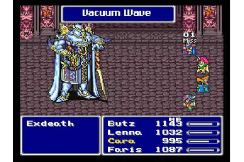 Final Fantasy V SNES - #32 Exdeath - YouTube