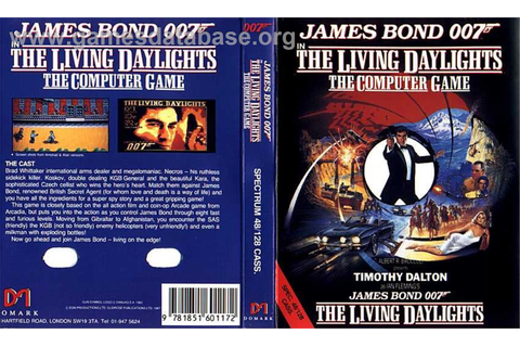 The Living Daylights - Sinclair ZX Spectrum - Games Database