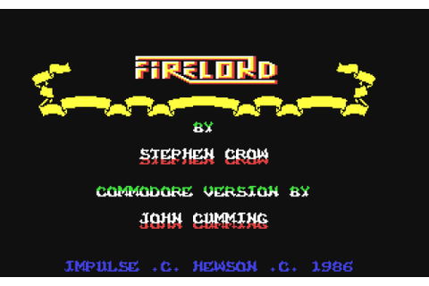 Game: Firelord [Commodore 64, 1986, Hewson] - OC ReMix