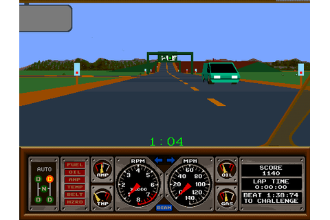 Hard Drivin' arcade video game by Atari Games (1988)
