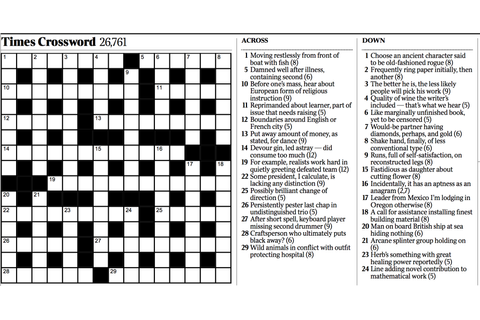 Variety: Cryptic Crossword - The New York Times