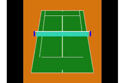 Arcade Game: Super Double Tennis (1983 Data East) - YouTube