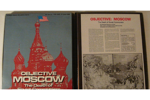 Map and Counters: SPI, OBJECTIVE MOSCOW (1978)