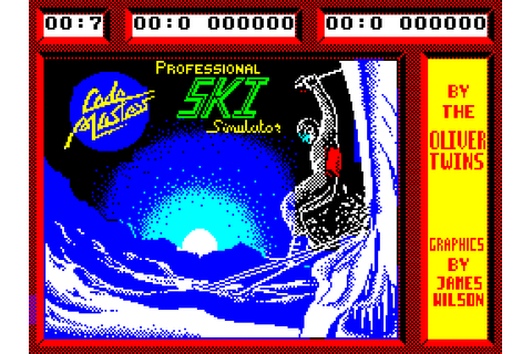 Professional Ski Simulator (1987) by Codemasters ZX ...