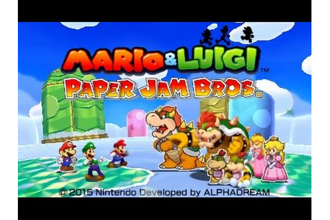 [Mario & Luigi: Paper Jam] Title Screen Footage - YouTube