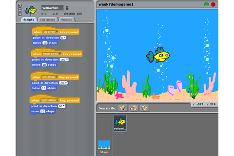 Simple 'Catching' game using Scratch Art: creation of ...