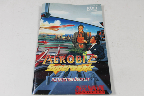 Manual - Aerobiz Supersonic - Very Rare Snes Super Nintendo