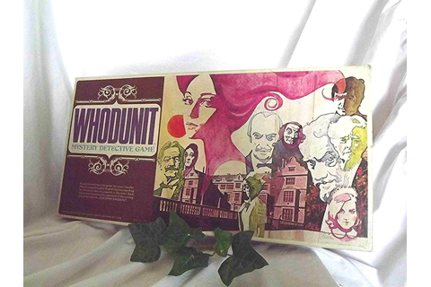 Vintage Board Game 'WHODUNIT' Murder Mystery by NanisGarden