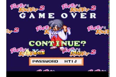 Game Over: Pocky and Rocky 2 - YouTube