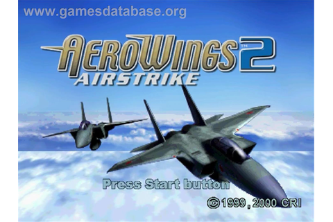 Aerowings 2: Air Strike - Sega Dreamcast - Games Database
