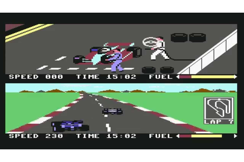 Commodore C64 Pit Stop 2 Longplay - YouTube