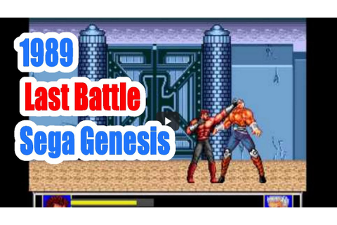 1989 Last Battle (Sega Genesis) Game Playthrough Video ...