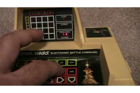Vintage Electronic Star Wars Battle Command Game ...