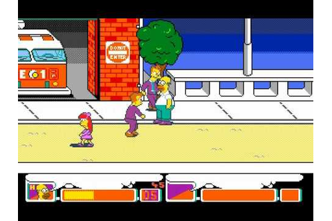 The Simpsons Arcade Game (DOS) w/ Homer - YouTube