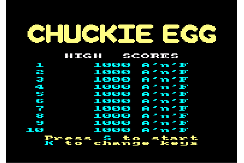 Download Chuckie Egg - My Abandonware