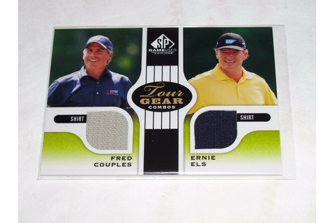 2012 SP Game Used Fred COUPLES Ernie ELS Tour Gear Dual ...