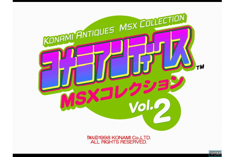 Konami Antiques - MSX Collection Vol. 2 for Sony ...